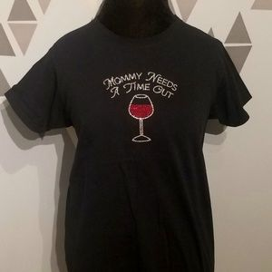 Mommy Needs A Time Out Bling Tee